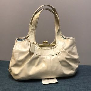 Vintage Coach Off White Shoulder Bag